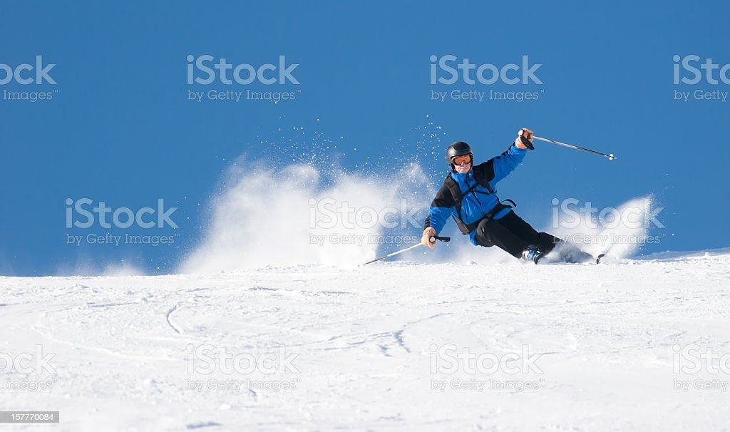 Skier  Carving stock photo