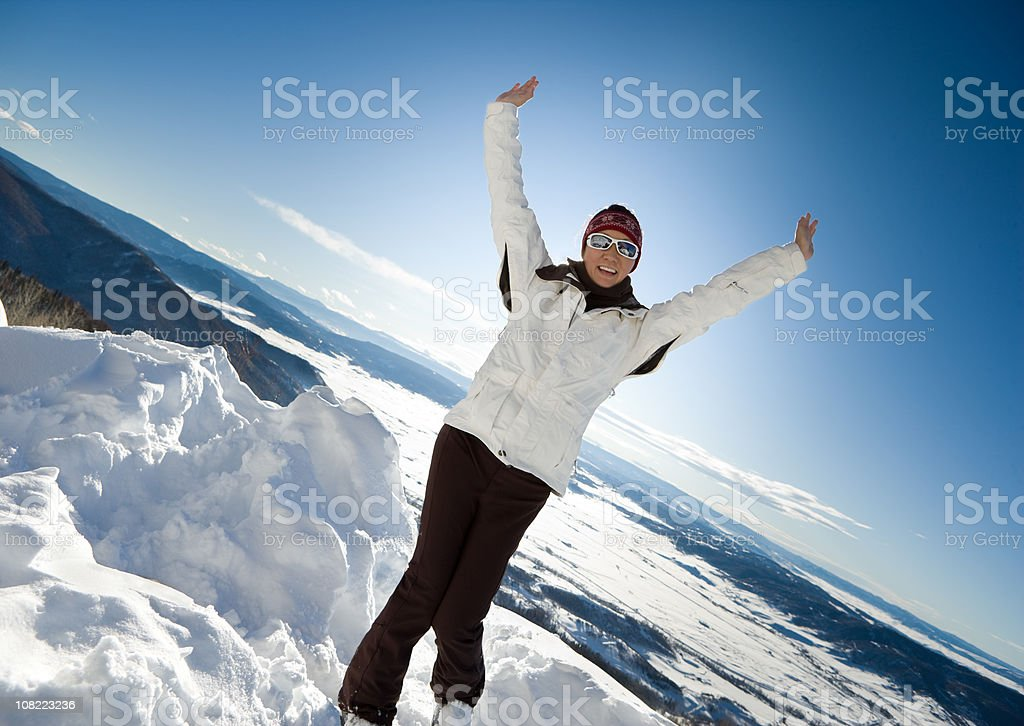 Skier Enjoying the snow royalty-free stock photo