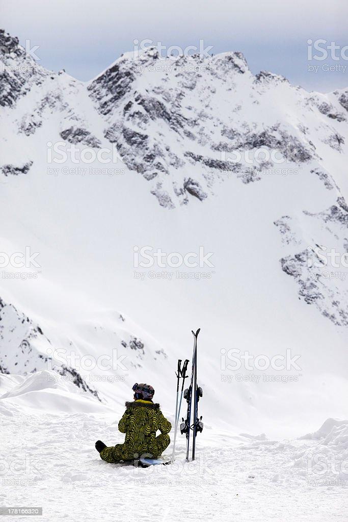 Skier girl royalty-free stock photo
