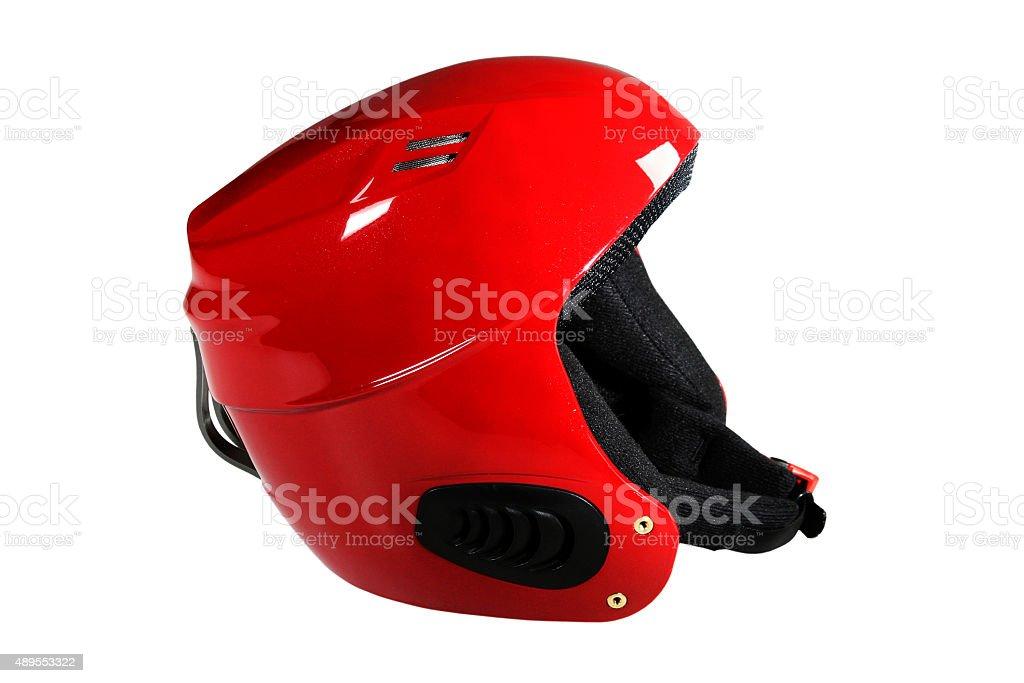 skier helmet stock photo