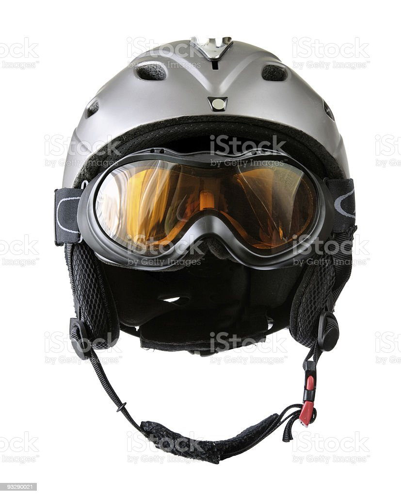 skier helmet with goggle royalty-free stock photo