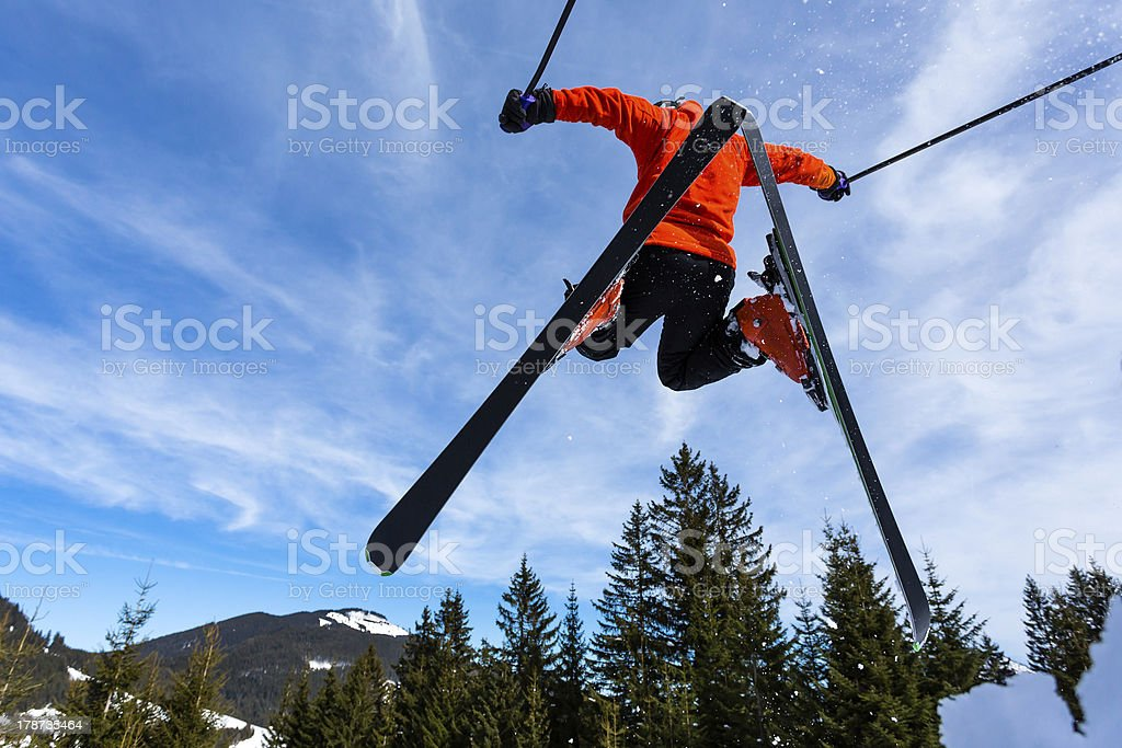 skier in a jump royalty-free stock photo