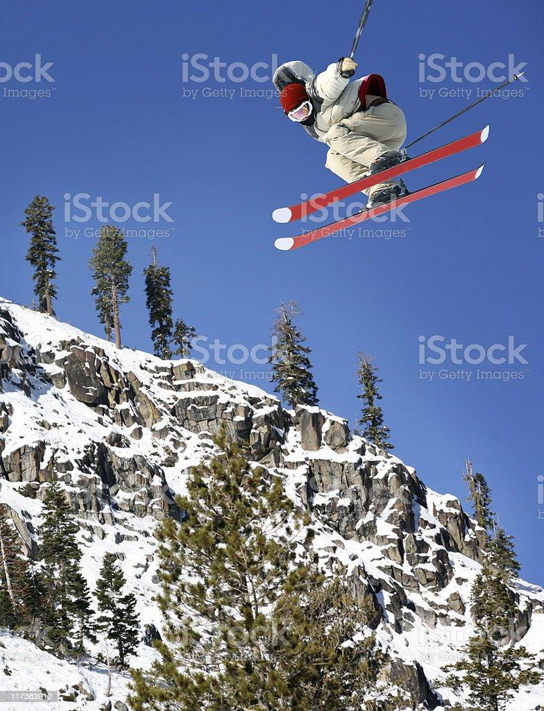 Skier jumping royalty-free stock photo