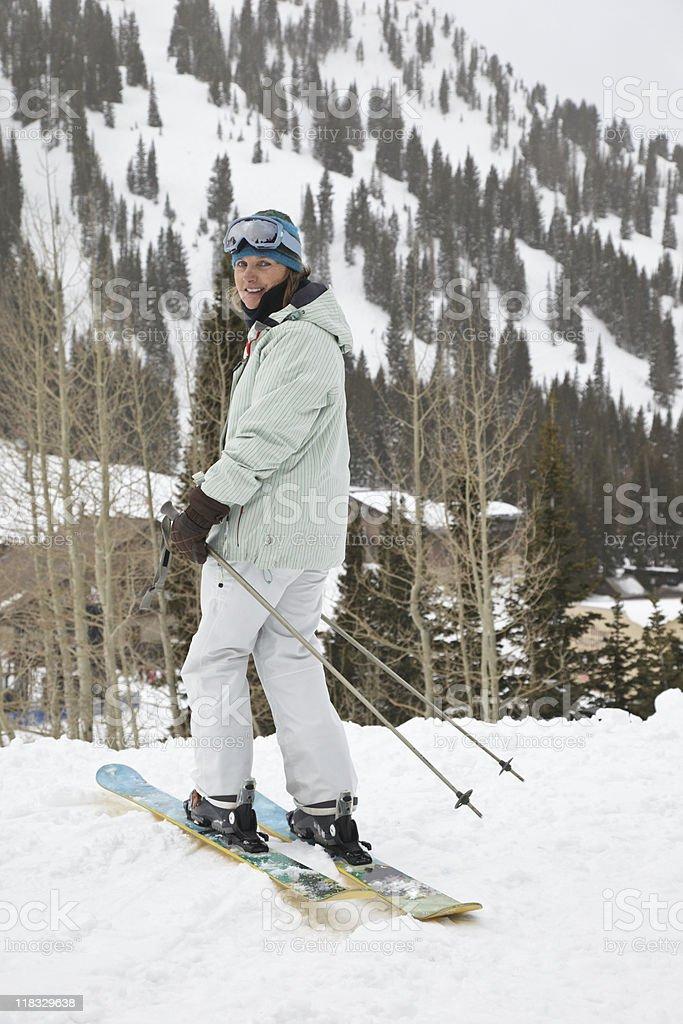 Skier royalty-free stock photo