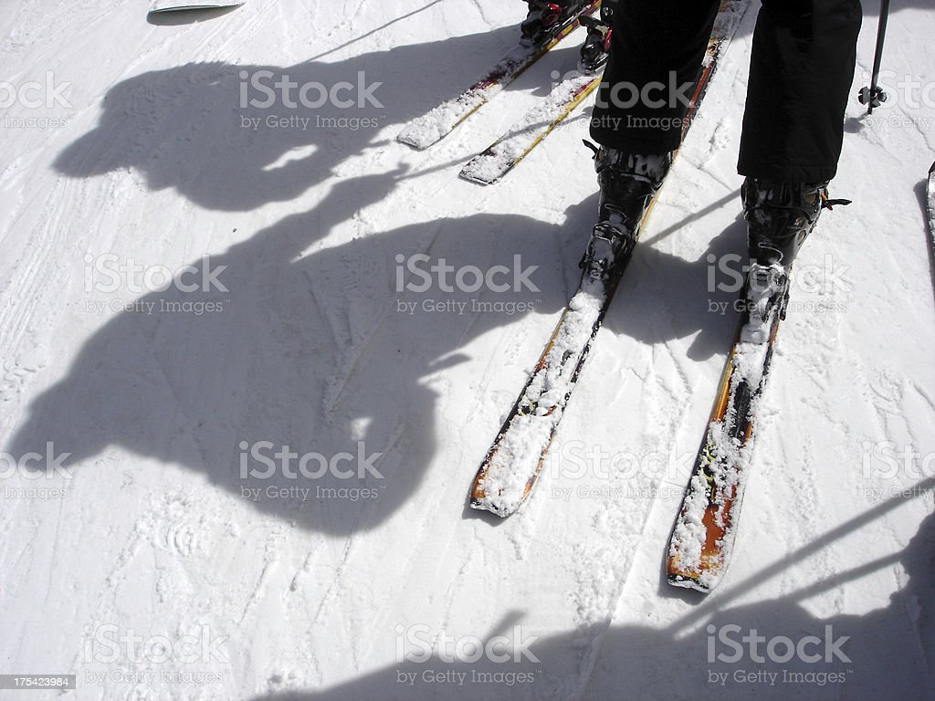 Skier Shadow royalty-free stock photo