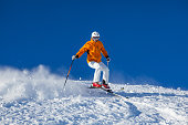 skier skiing in rough snow
