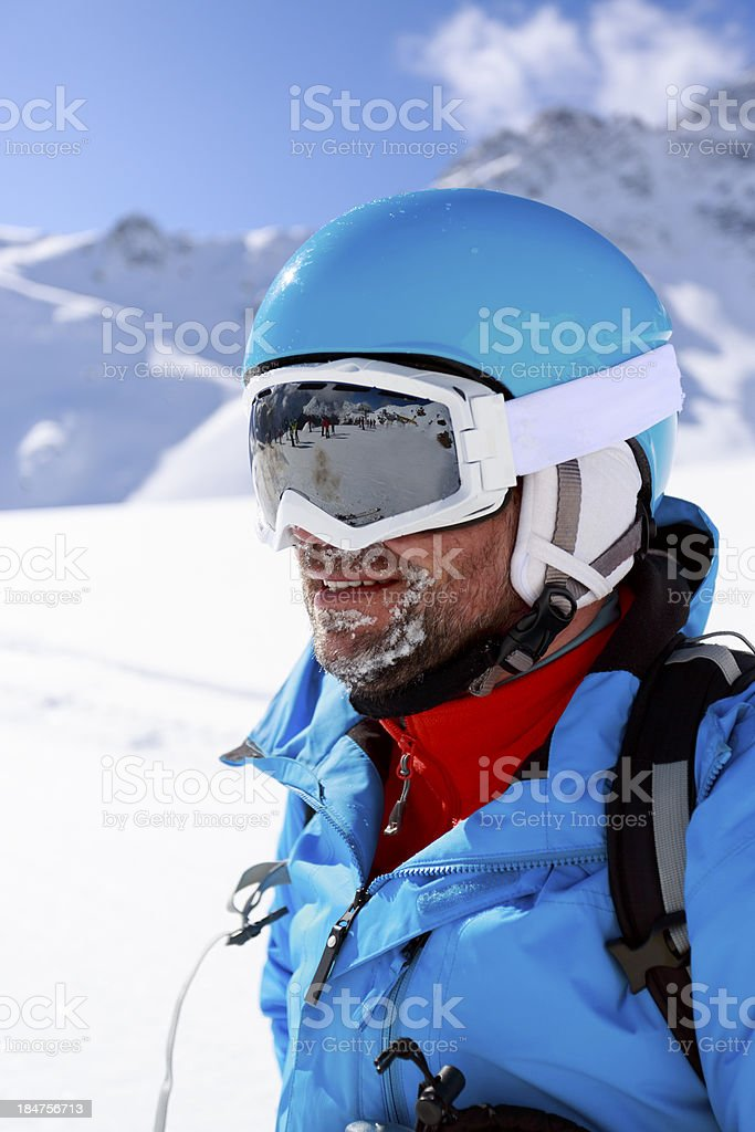 Skier, skiing, winter sport. royalty-free stock photo