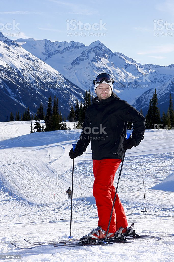 Skier taking a rest. royalty-free stock photo