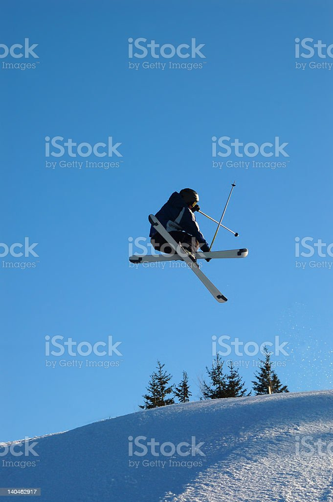 skier up high royalty-free stock photo