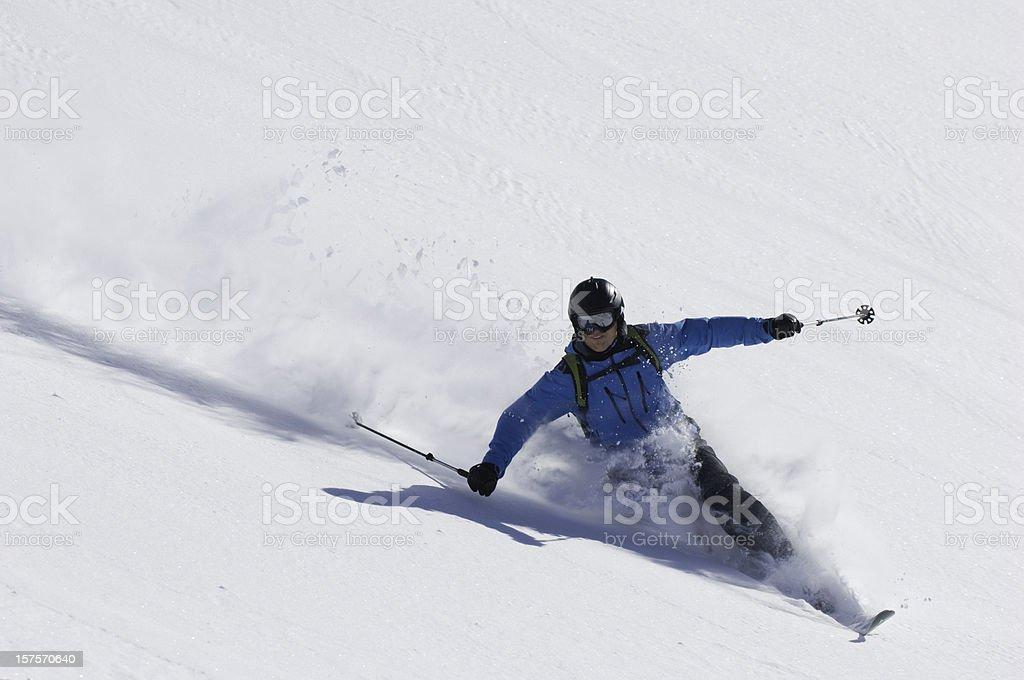 Skiers stock photo