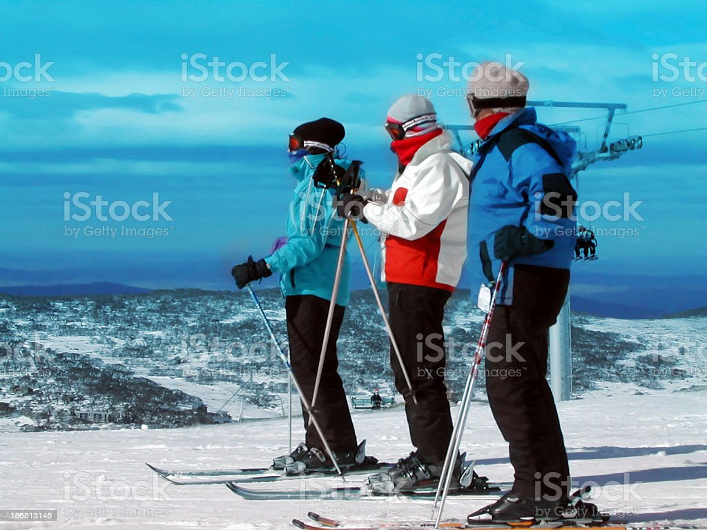 Skiers royalty-free stock photo