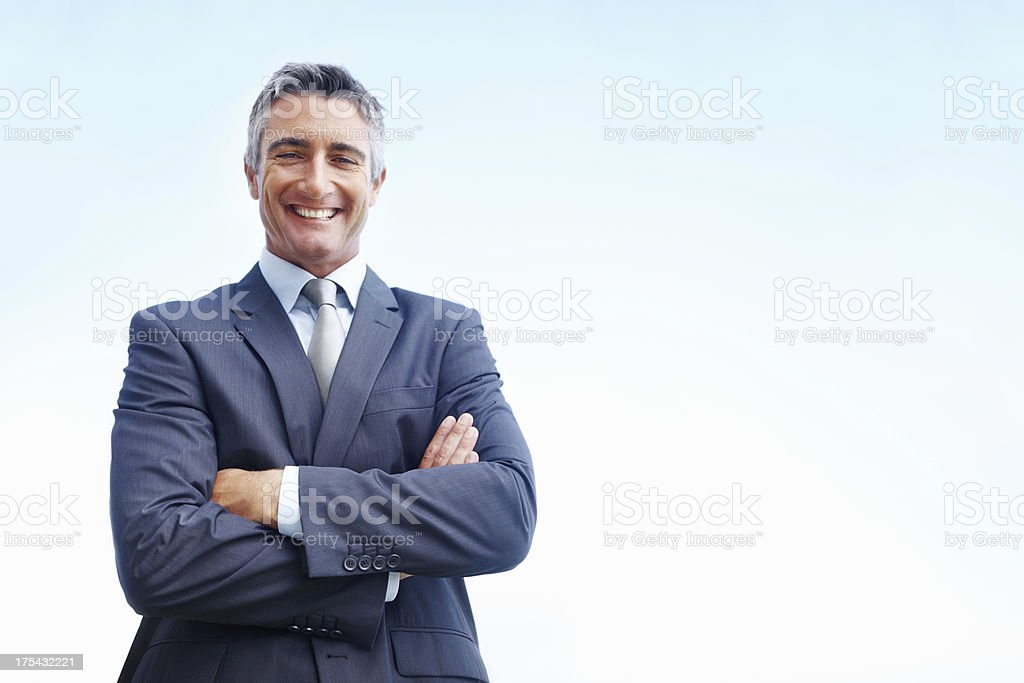 Skies are the limit for this successful executive! royalty-free stock photo