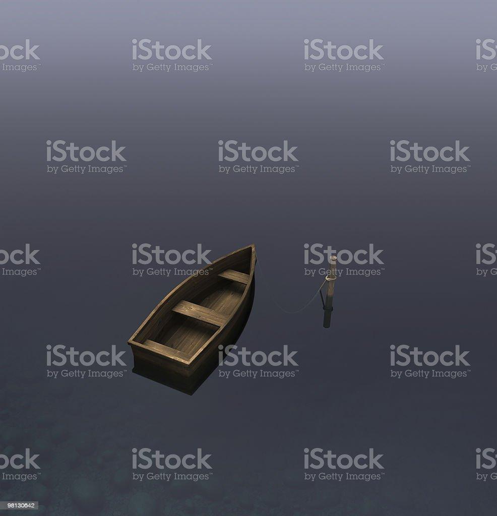 Skiff royalty-free stock photo
