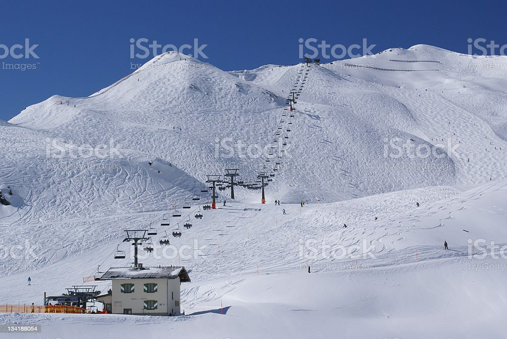 Skiiers Paradise in the Austrian Alps stock photo