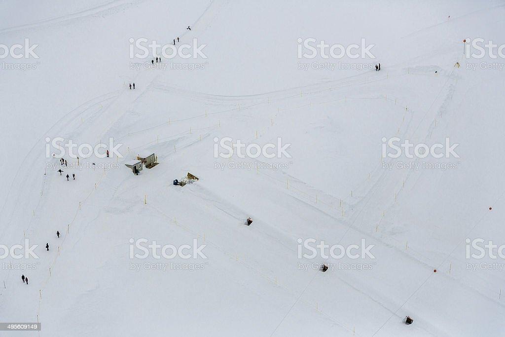 Skiiing around Jungfraujoch royalty-free stock photo