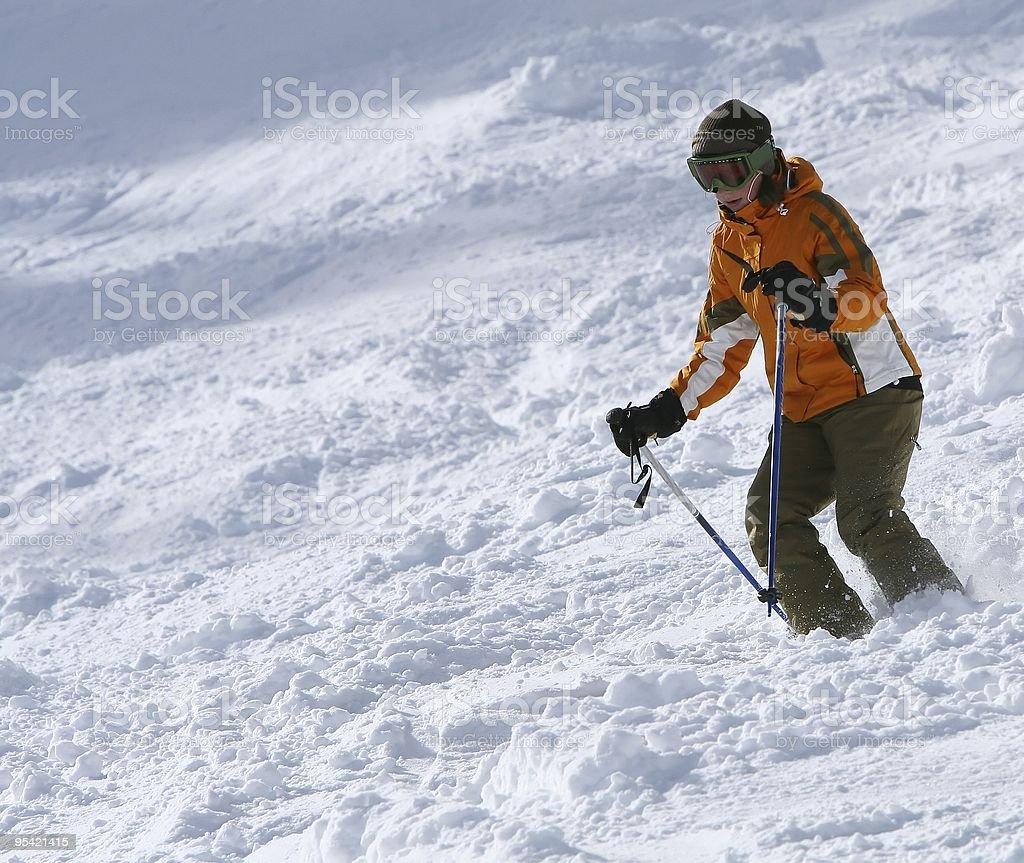 Skiing 6 stock photo