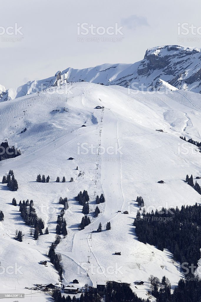 skiing area in the Swiss Alps royalty-free stock photo