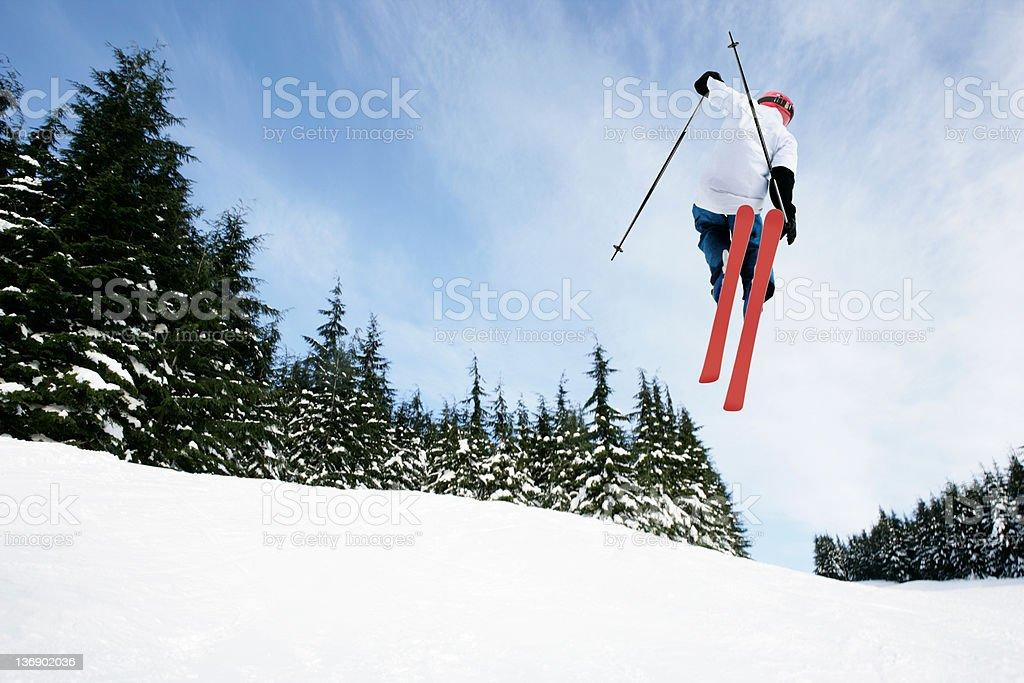 XXL skiing big air stunt royalty-free stock photo