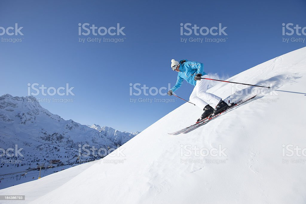 Skiing Carving royalty-free stock photo