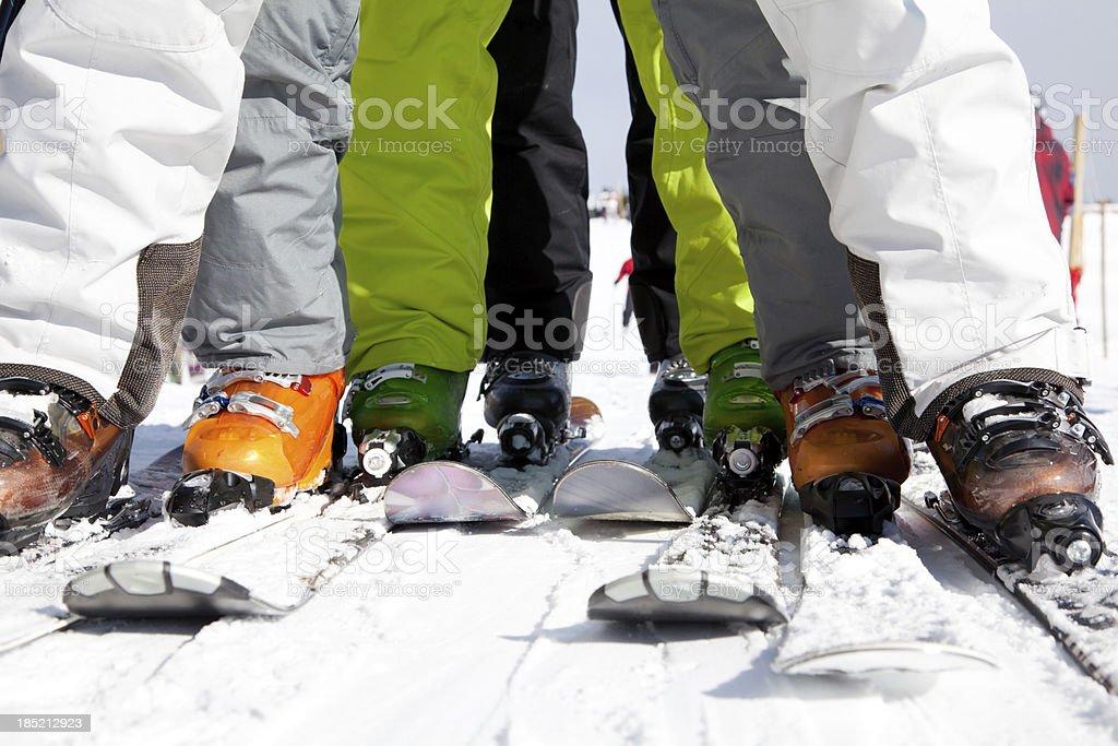 Skiing equipment stock photo
