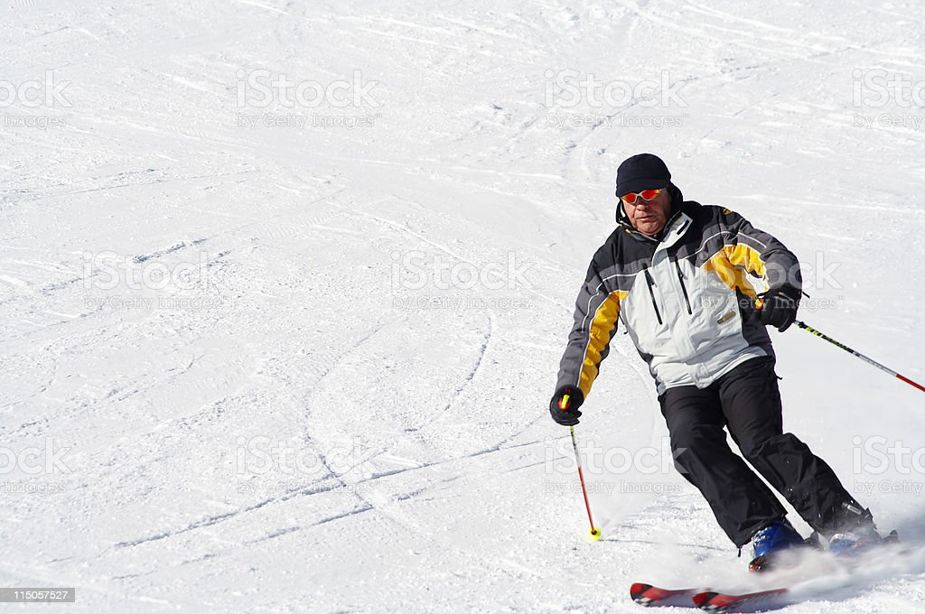 Skiing fast royalty-free stock photo