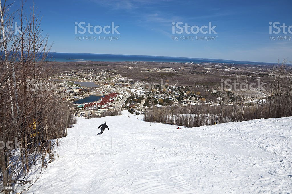 Skiing Hill stock photo