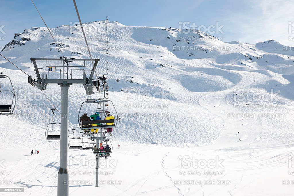 Skiing Holiday in France stock photo