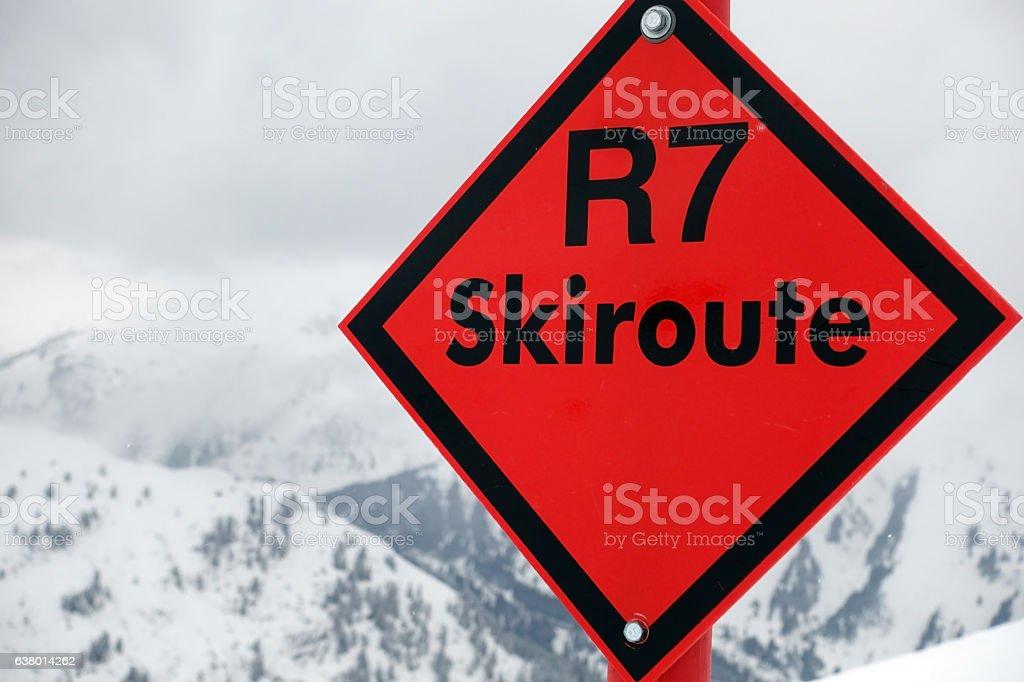 Skiing in Austria stock photo