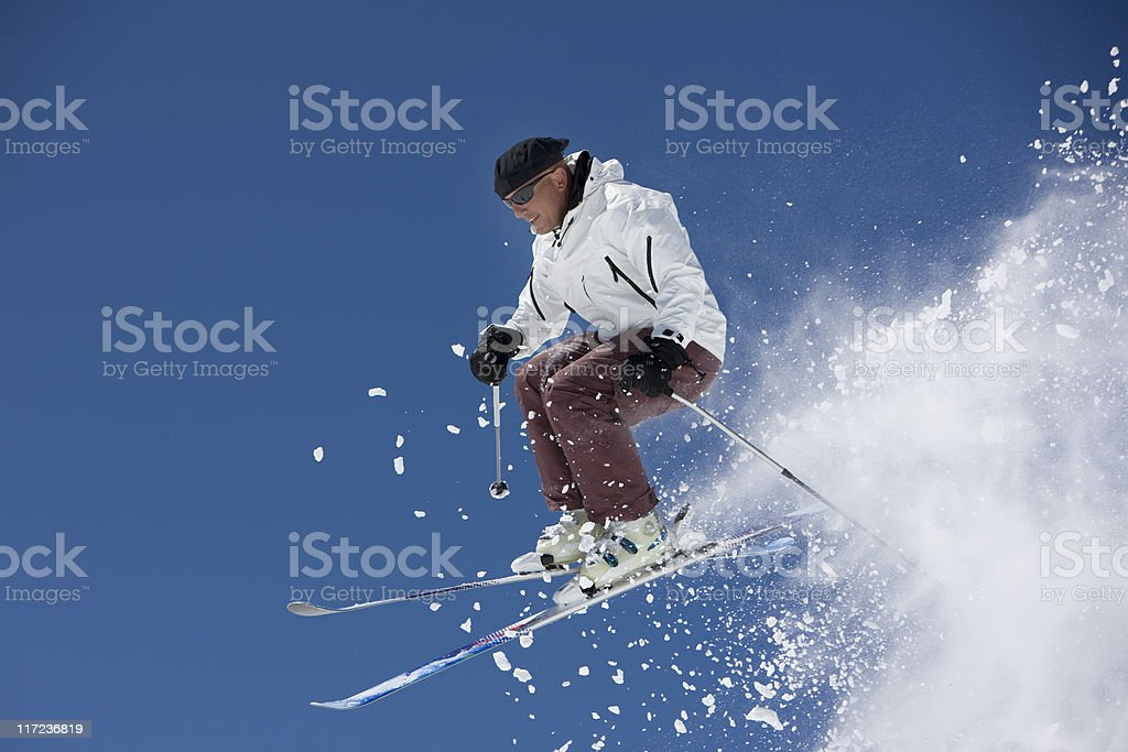 Skiing In Colorado royalty-free stock photo