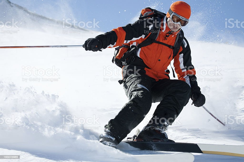 Skiing in France royalty-free stock photo