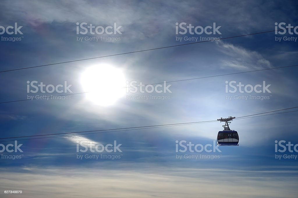 Skiing in St. Anton, Austria stock photo