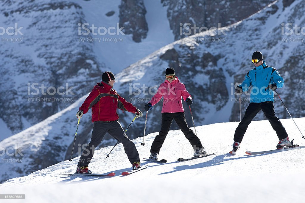 Skiing Lesson royalty-free stock photo