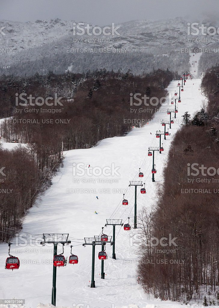 Skiing On Mt. Mansfield stock photo