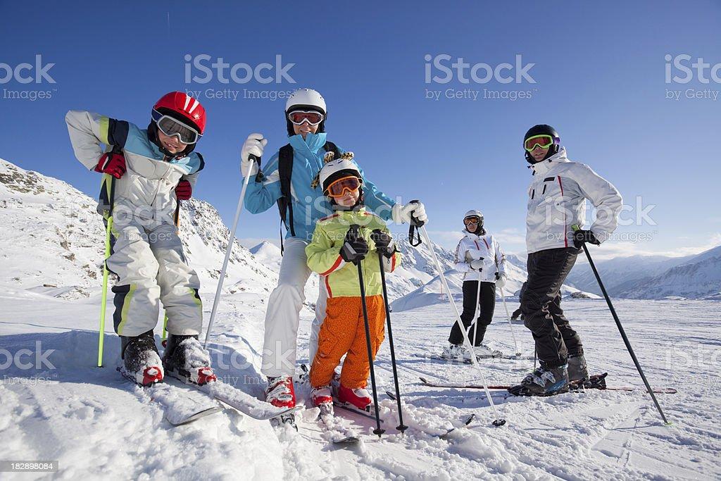 skiing people stock photo