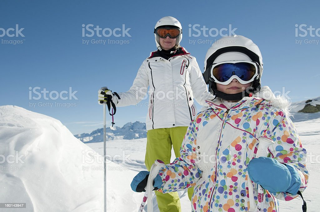 Skiing royalty-free stock photo