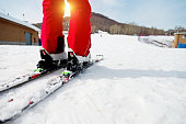 Skiing practice
