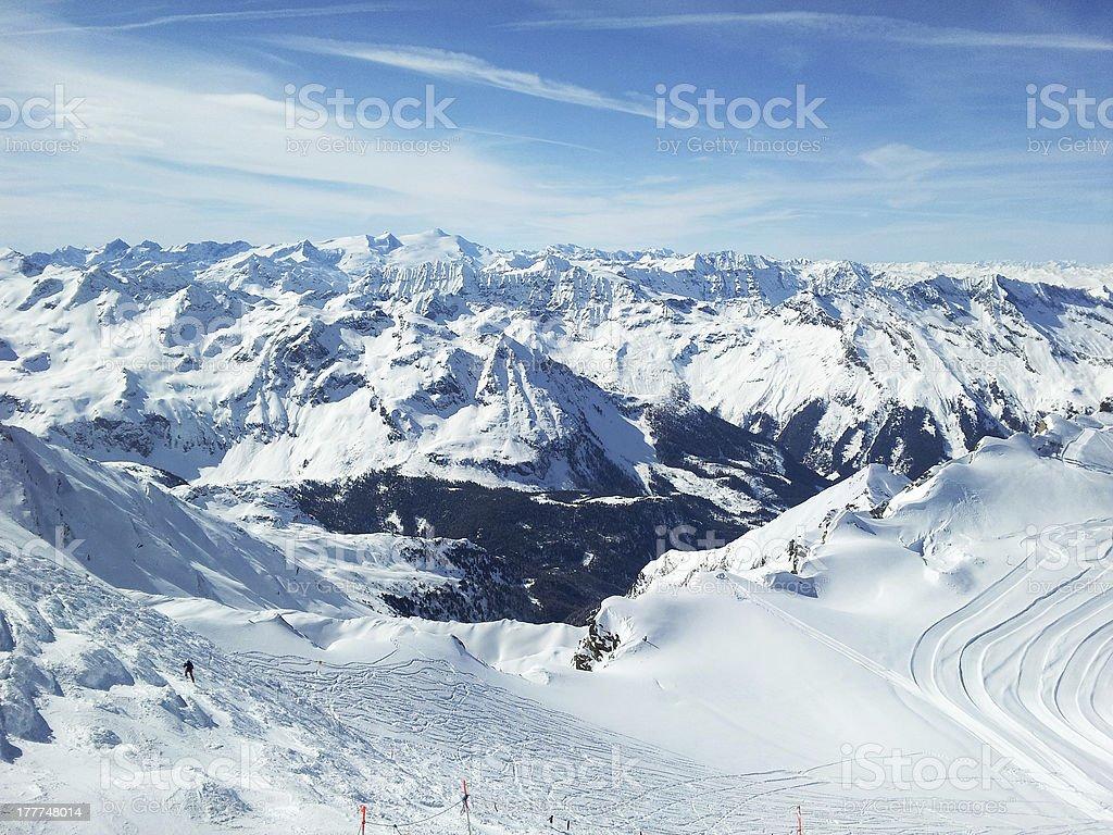 skiing resort royalty-free stock photo