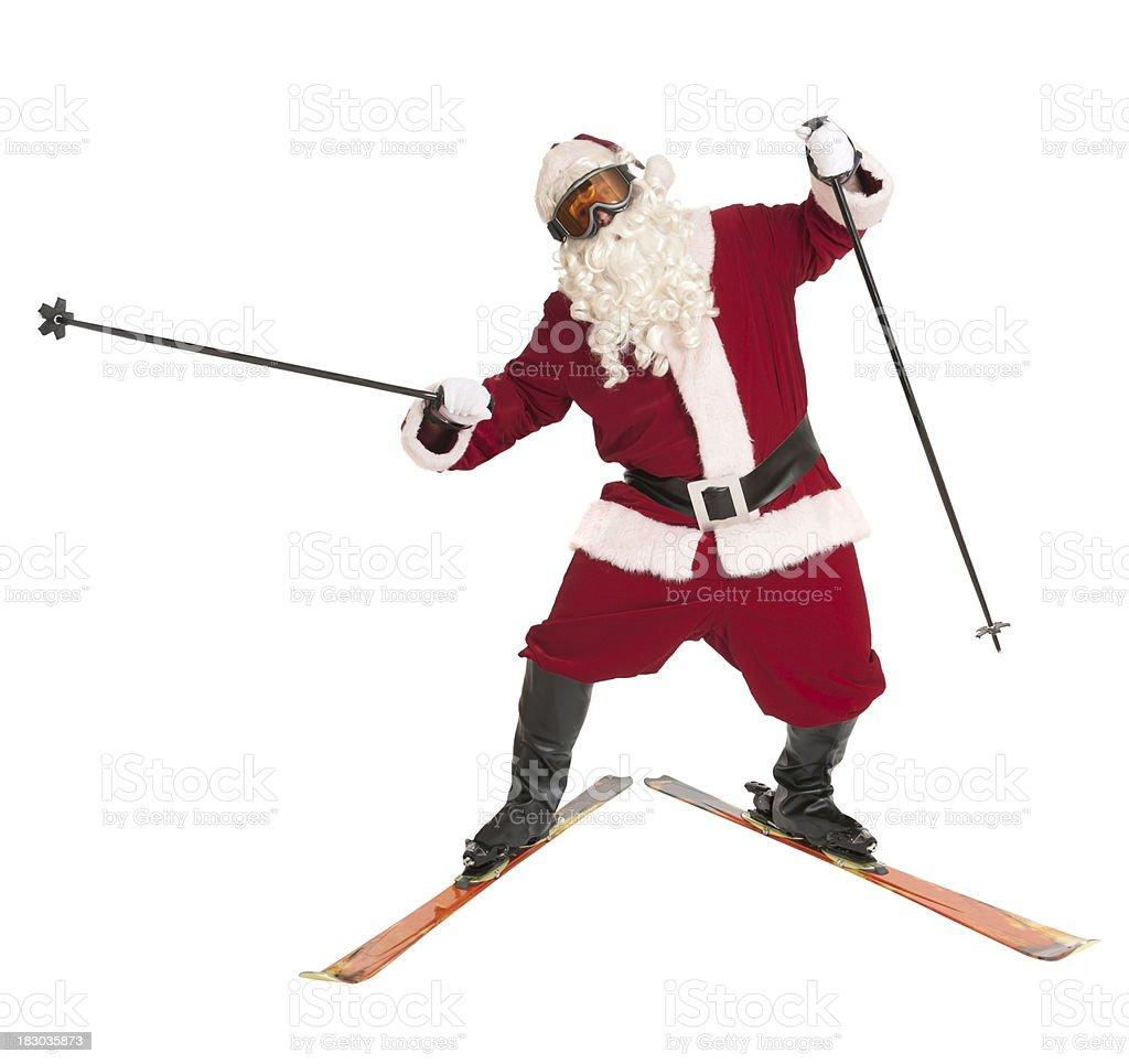 Skiing Santa - Sports Series royalty-free stock photo