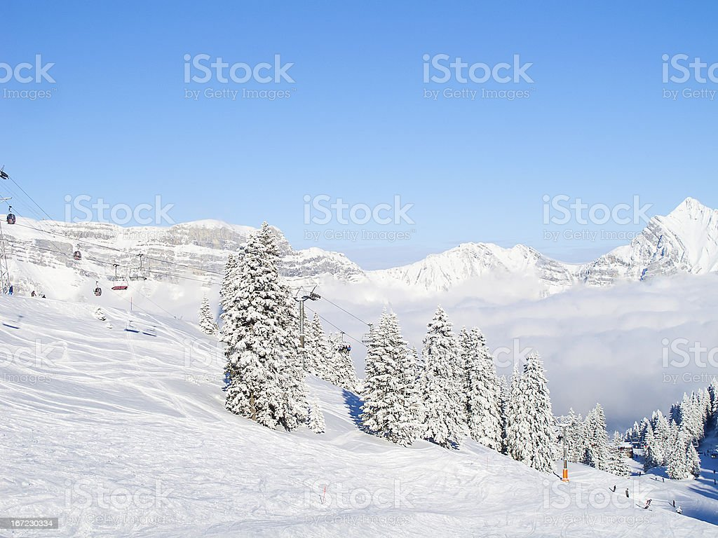Skiing slope royalty-free stock photo