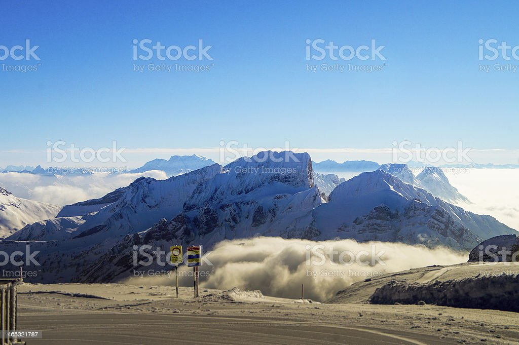 Skiing, Snow Winter Suisse Alps royalty-free stock photo