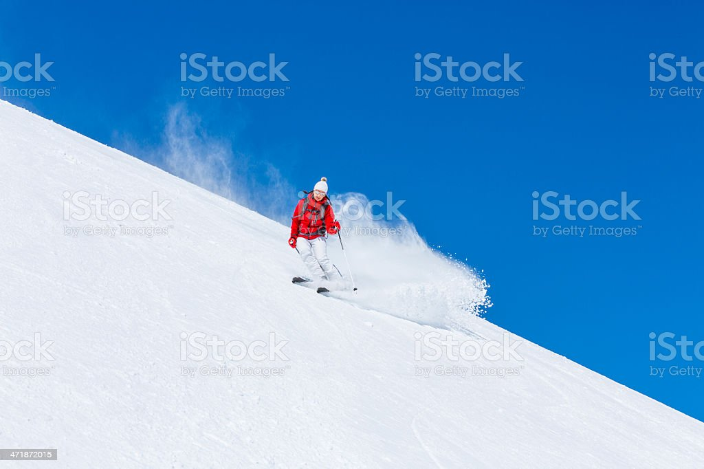 Skiing - Winter Sport royalty-free stock photo