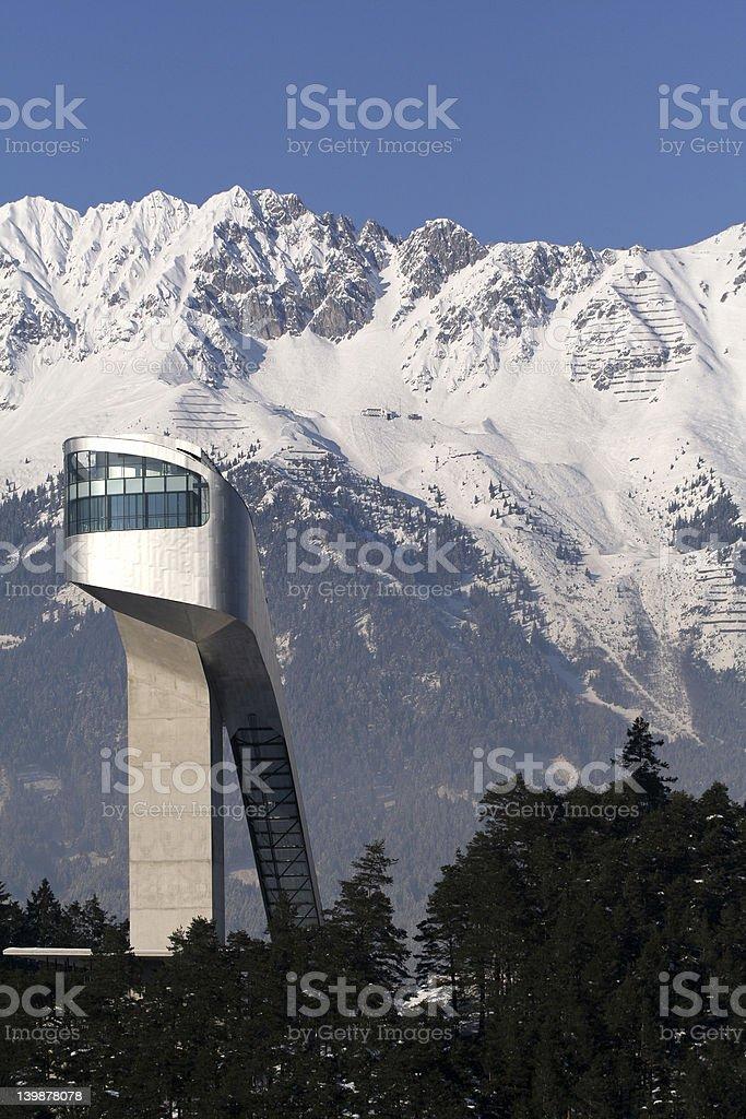 ski-jump building stock photo
