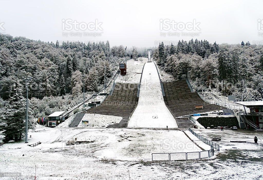 Ski-jump Muehlenkopfschanze in Willingen stock photo
