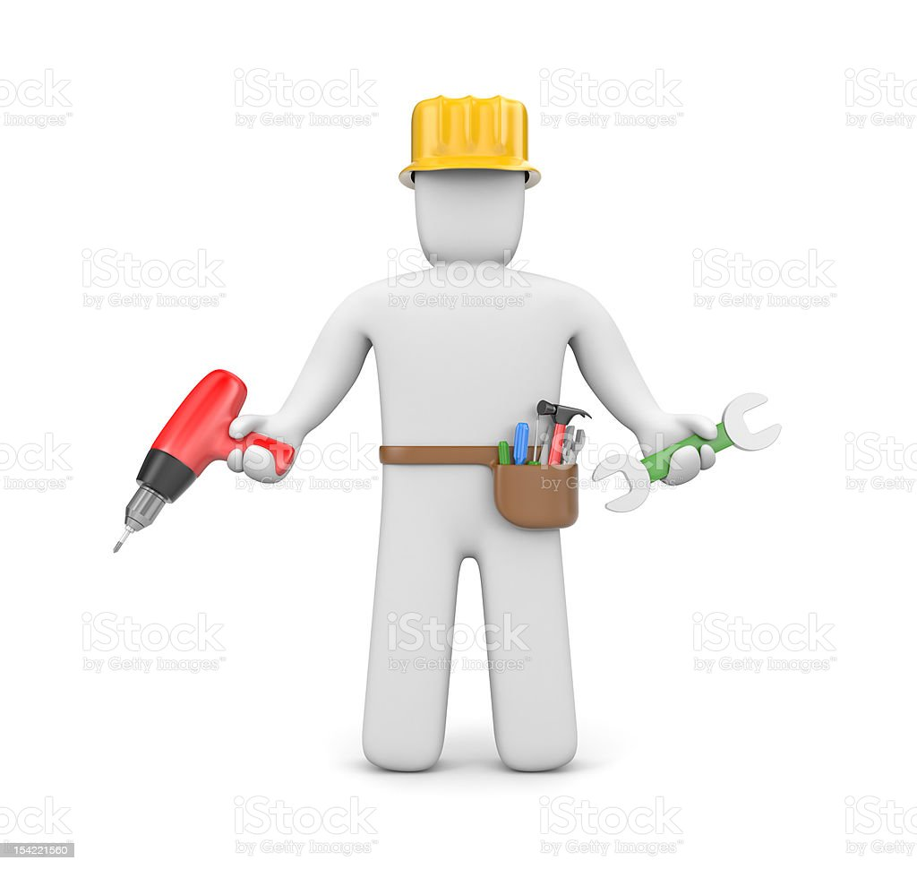 Skilled worker royalty-free stock vector art