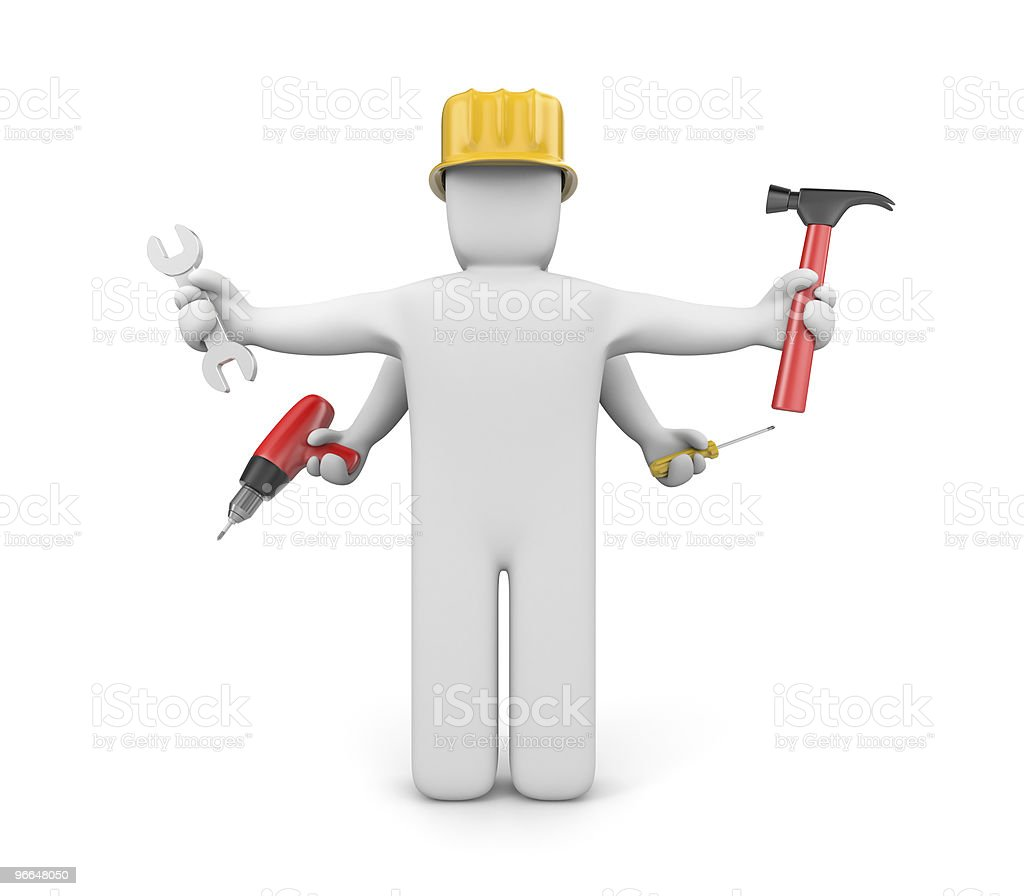 Skilled workers royalty-free stock photo