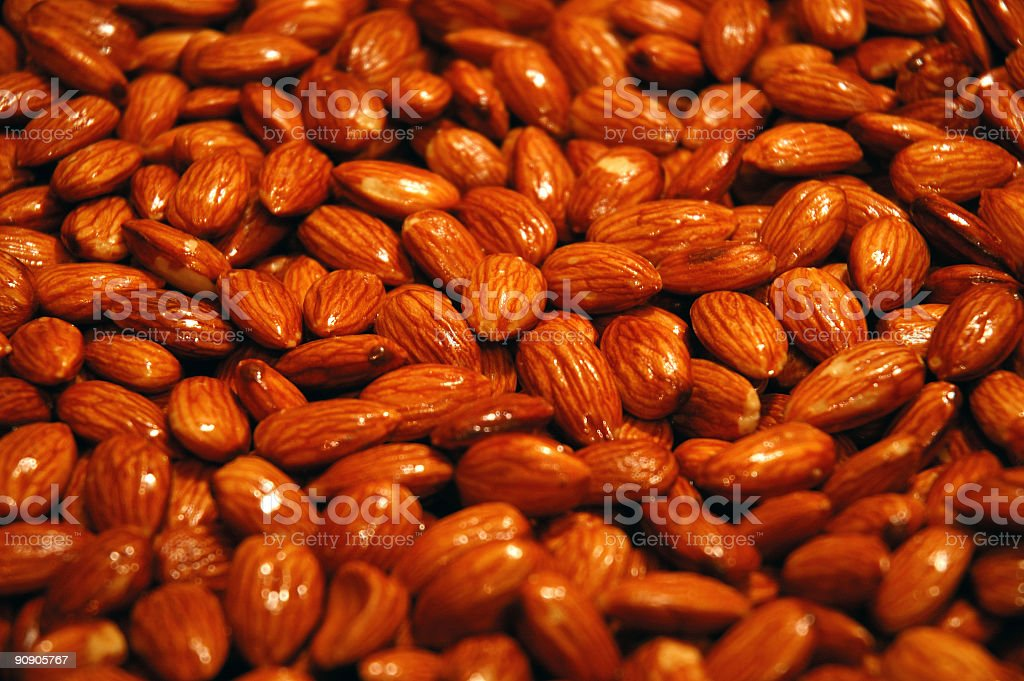 Skillet Roasted Almonds royalty-free stock photo