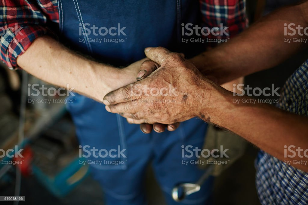 Skillful hands stock photo