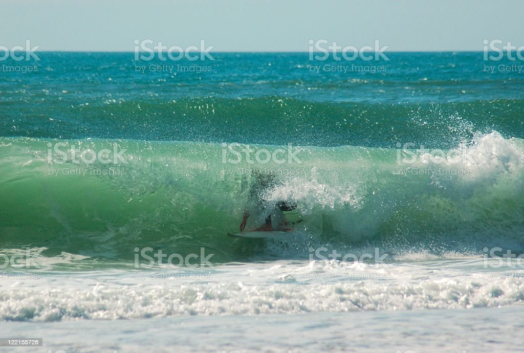 Skillful surfer stock photo
