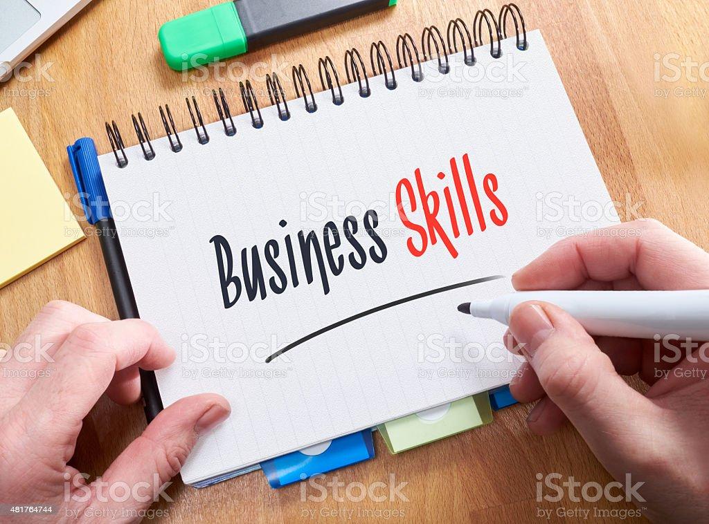 Skills Concept stock photo