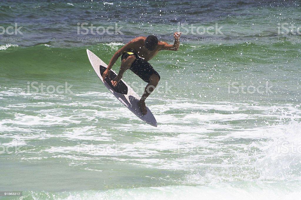 Skim Boarder in Air stock photo